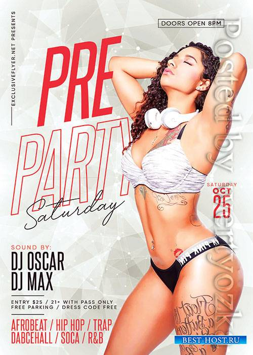 Pre party saturday - Premium flyer psd template