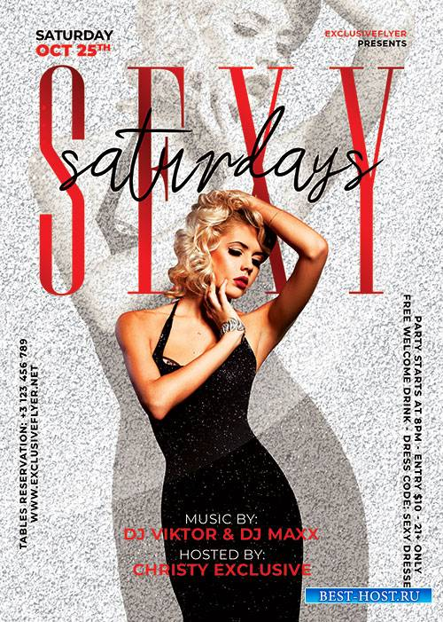 Sexy saturdays - Premium flyer psd template