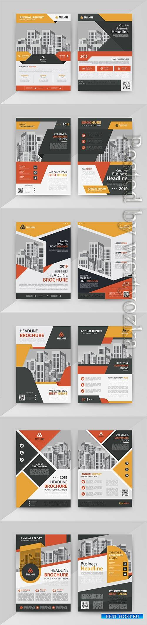 Business vector template for brochure, annual report, magazine # 23