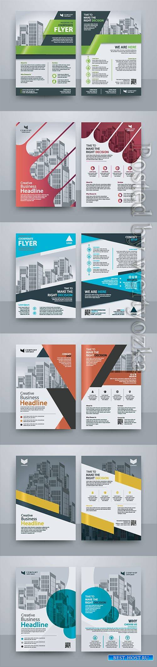 Business vector template for brochure, annual report, magazine # 20