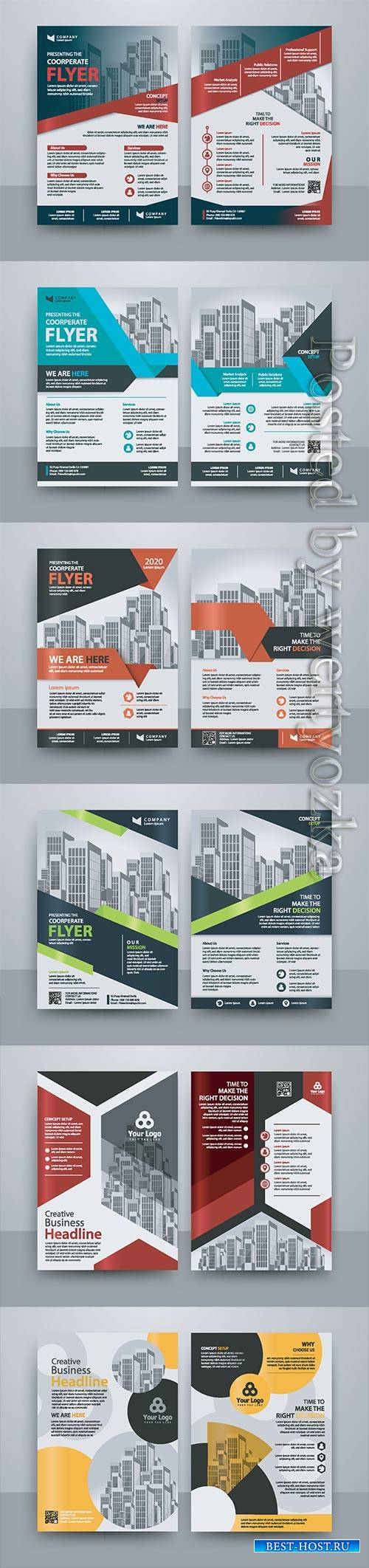 Business vector template for brochure, annual report, magazine # 21