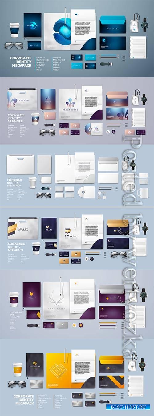 Corporate branding identity template