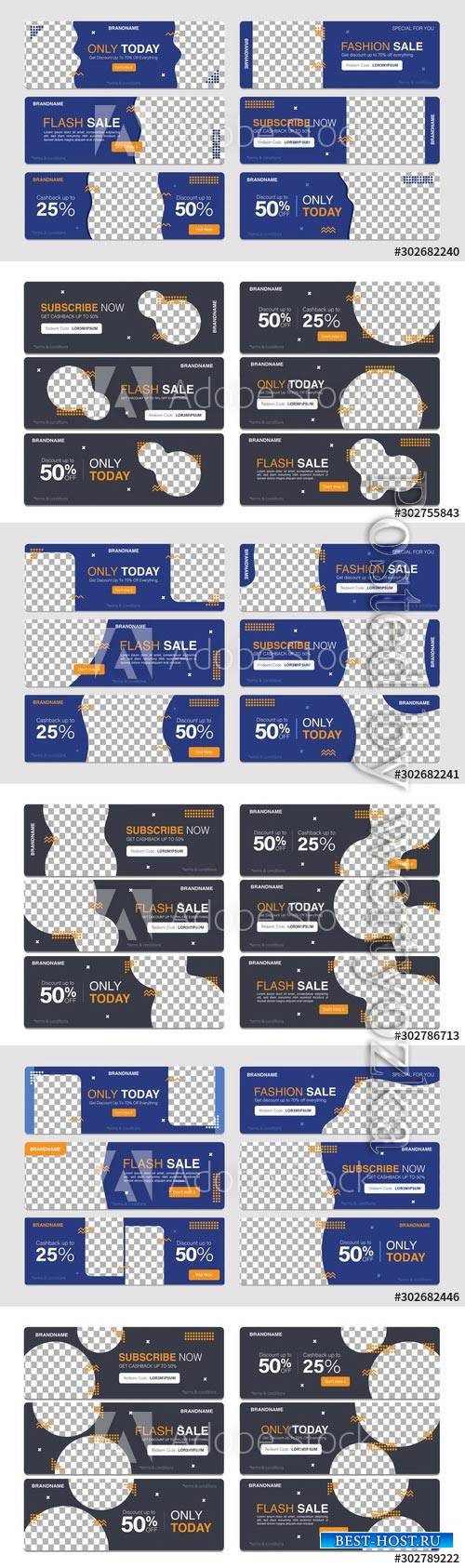 Sale banner template collection for promotion sale