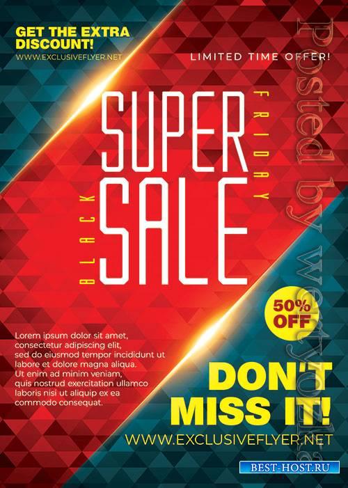 Super black friday sale - Premium flyer psd template