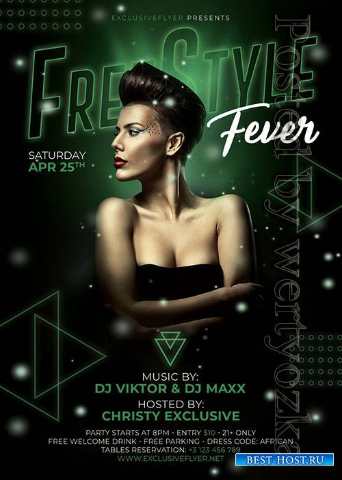 Freestyle fever - Premium flyer psd template