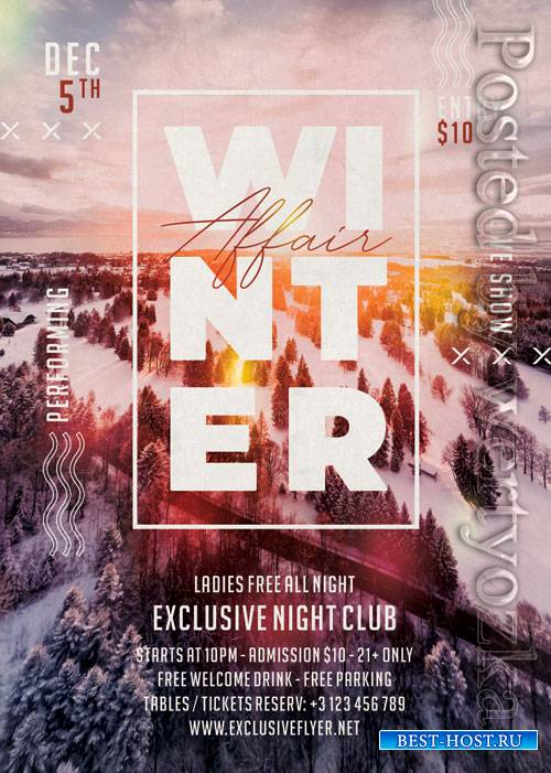 Winter affair - Premium flyer psd template