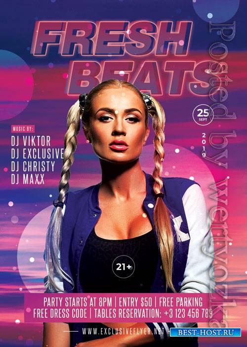 Fresh beats - Premium flyer psd template