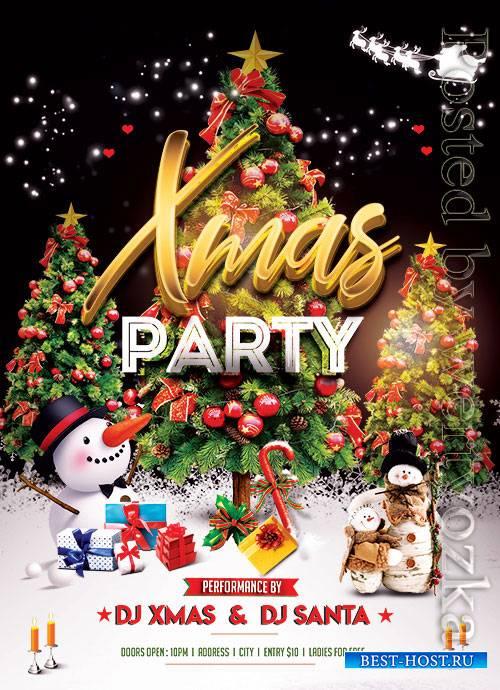 XMas Party Night - Premium flyer psd template
