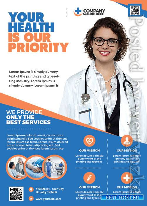 Health Care - Premium flyer psd template
