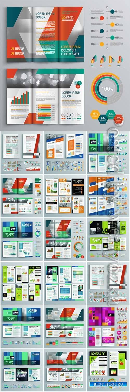 Vector brochure template business design