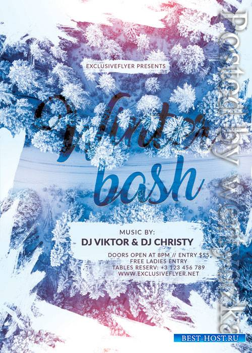 Winter bash - Premium flyer psd template