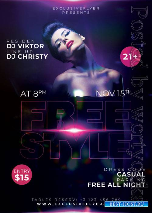 Freestyle affair - Premium flyer psd template