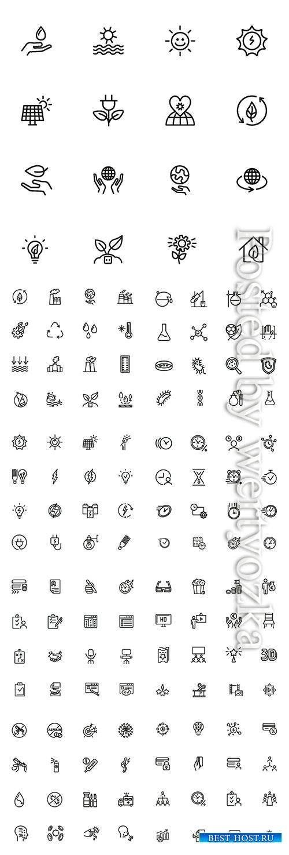 Vector line icon set
