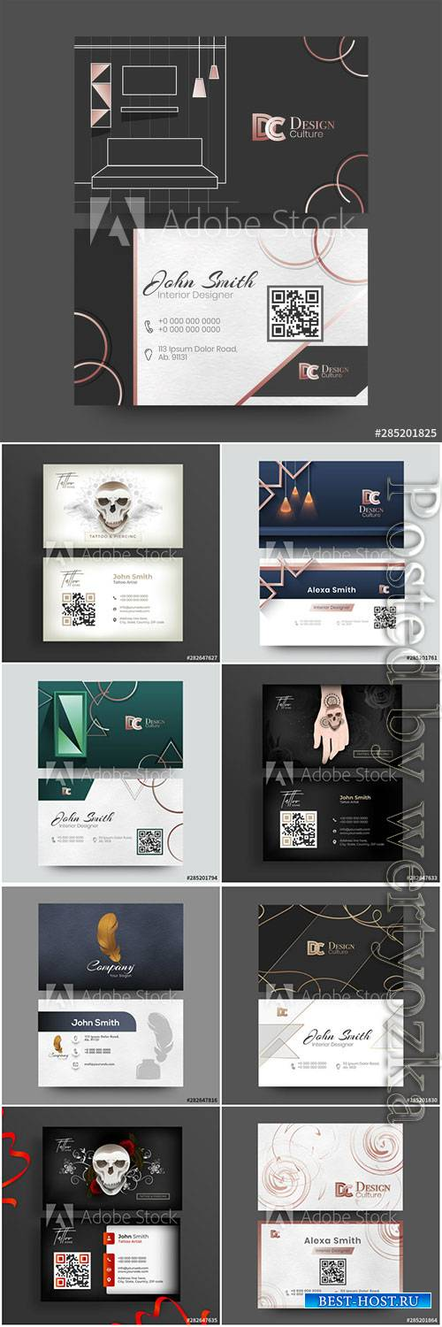 Interior Designer business cards, business cards for tatoo