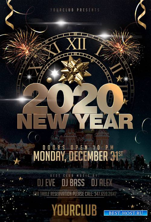 New Year Eve 2020 - Premium flyer psd template