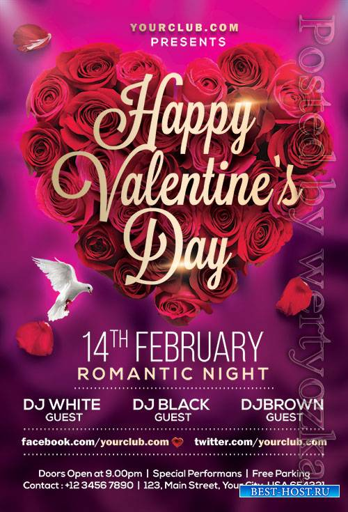 Valentines Day - Premium flyer psd template
