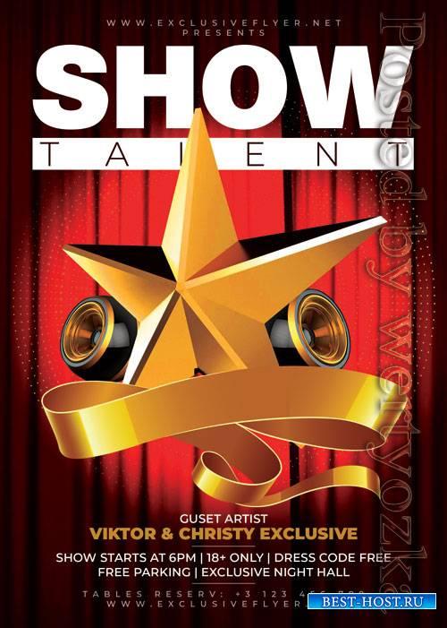 Show talent - Premium flyer psd template