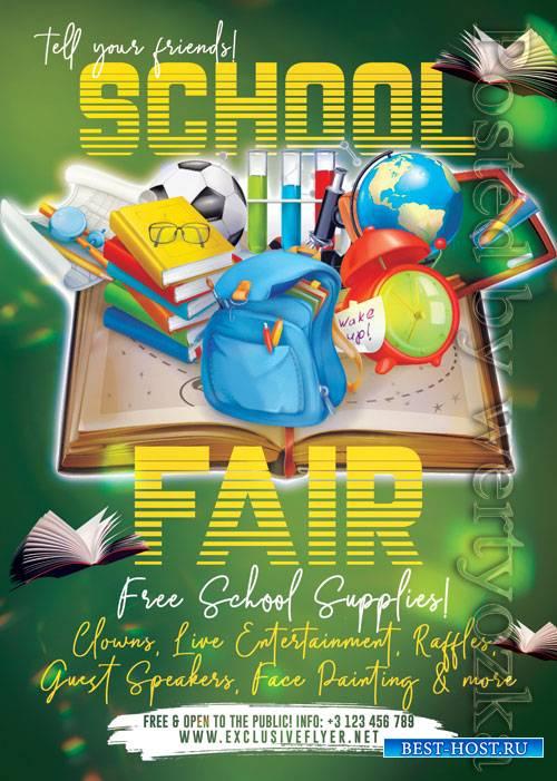 School fair - Premium flyer psd template
