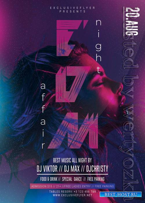 EDM night affair - Premium flyer psd template