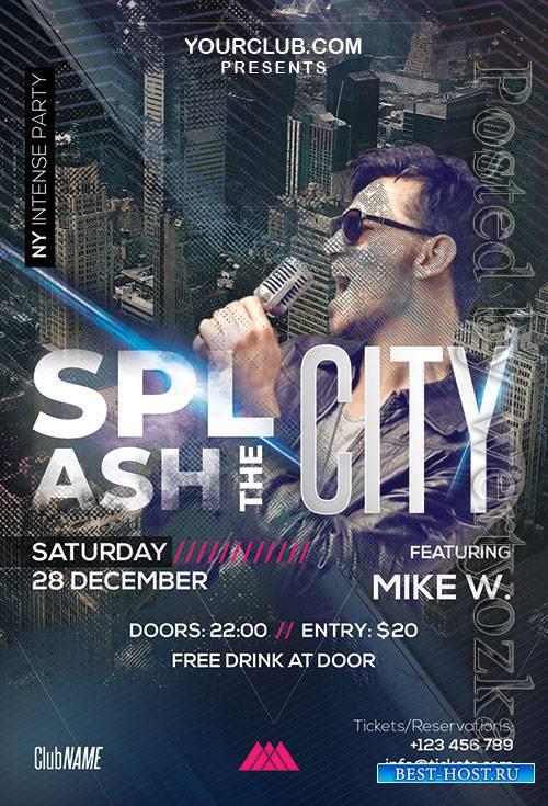 Splash the City - Premium flyer psd template