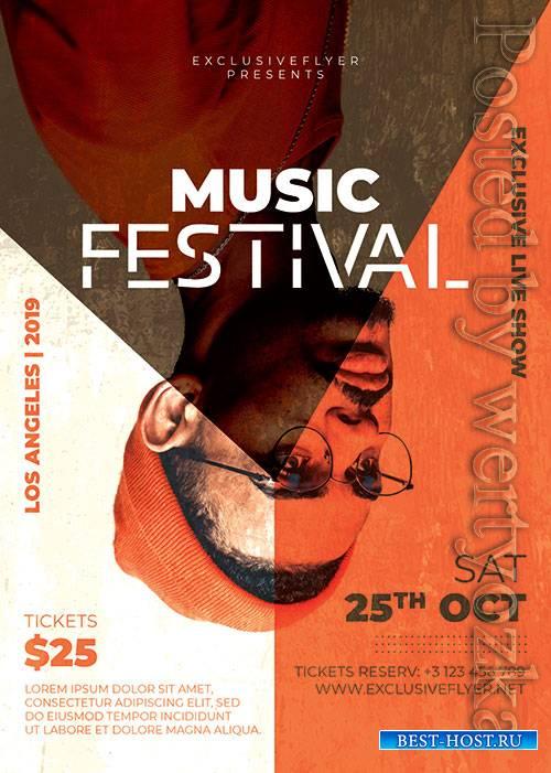 Music festival - Premium flyer psd template