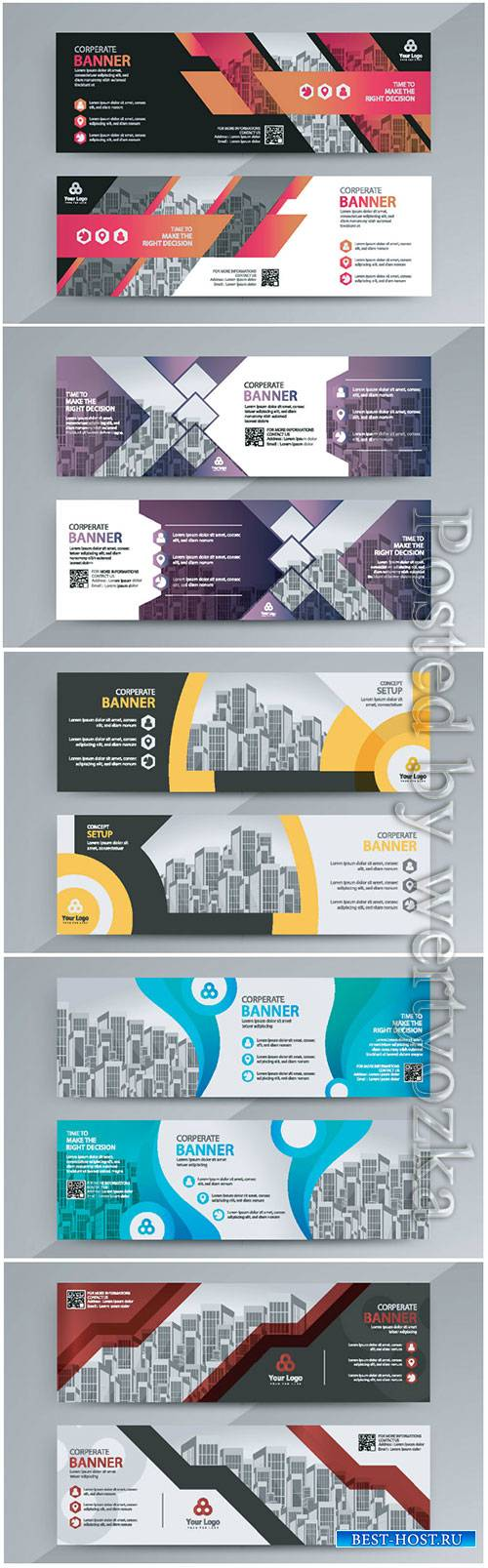 Horizontal advertising business banner layout template