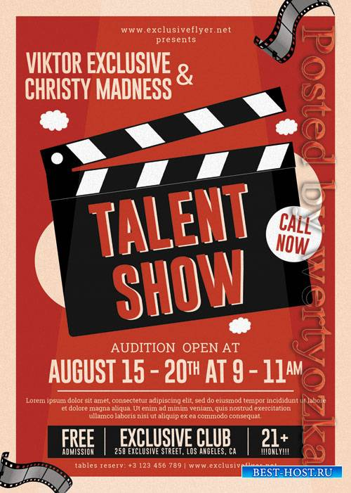 Talent show - Premium flyer psd template