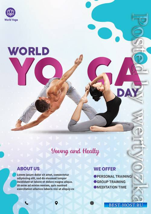 World Yoga Day - Premium flyer psd template