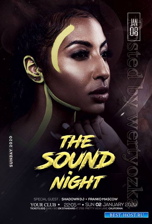 The Sound Night Party - Premium flyer psd template