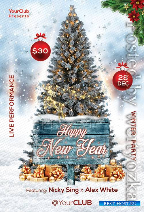 Happy New Year - Premium flyer psd template
