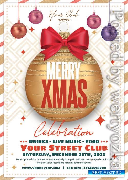 Christmas Club Event - Premium flyer psd template