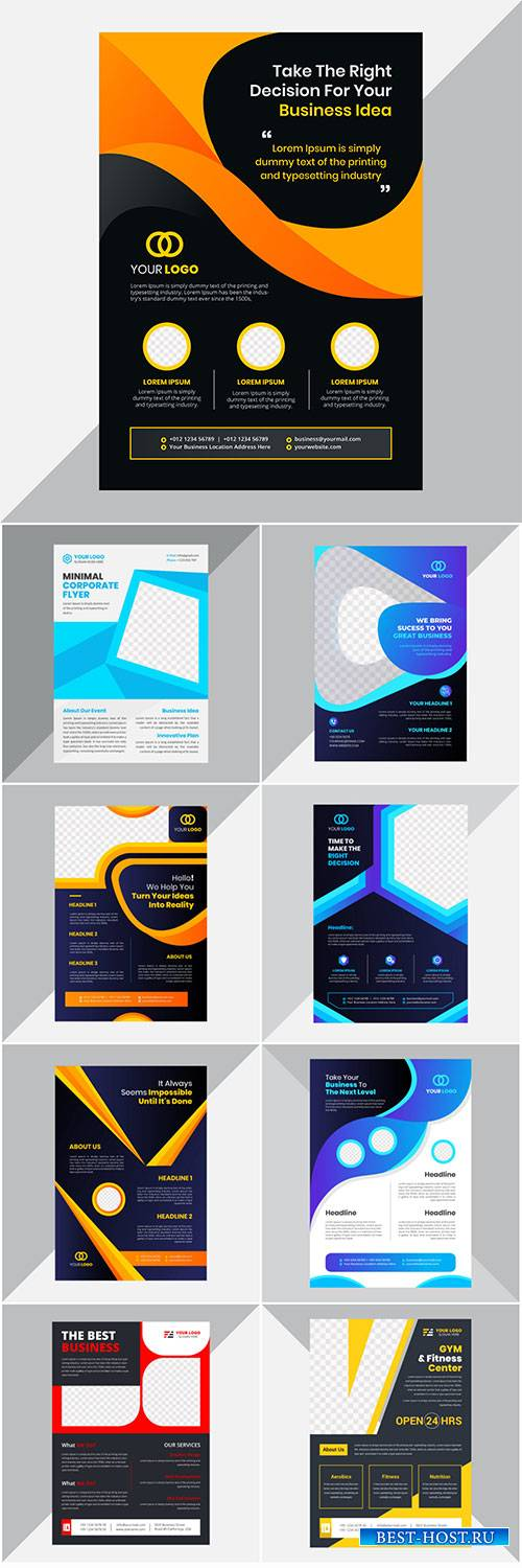 Creative modern corporate flyer design template