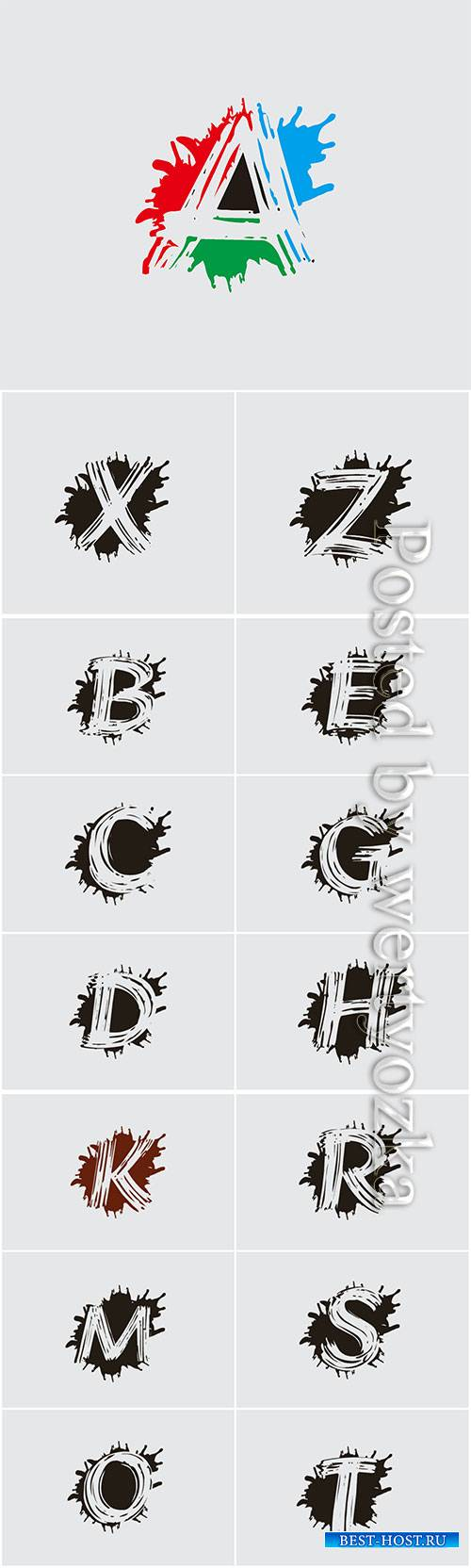 Letter logo icon splash vector design