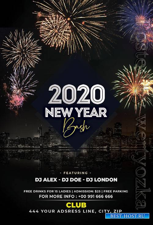 NYE 2020 Bash - Premium flyer psd template