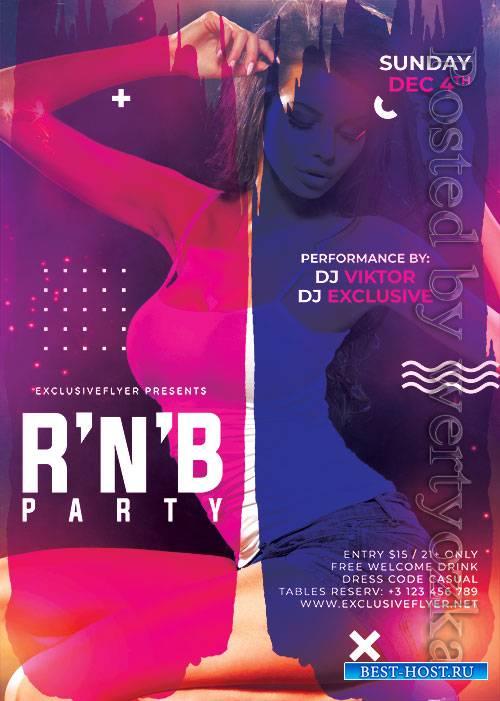 R n b bash - Premium flyer psd template