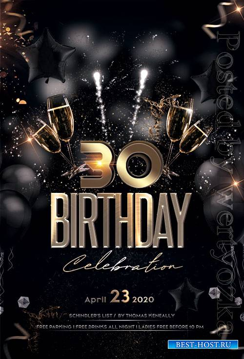 Birthday Party - Premium flyer psd template