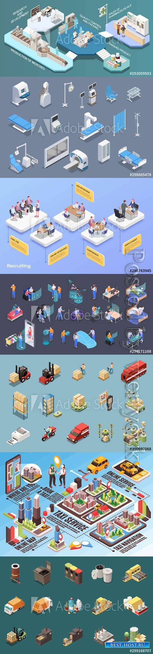 Flat isometric vector 3D concept illustration # 110