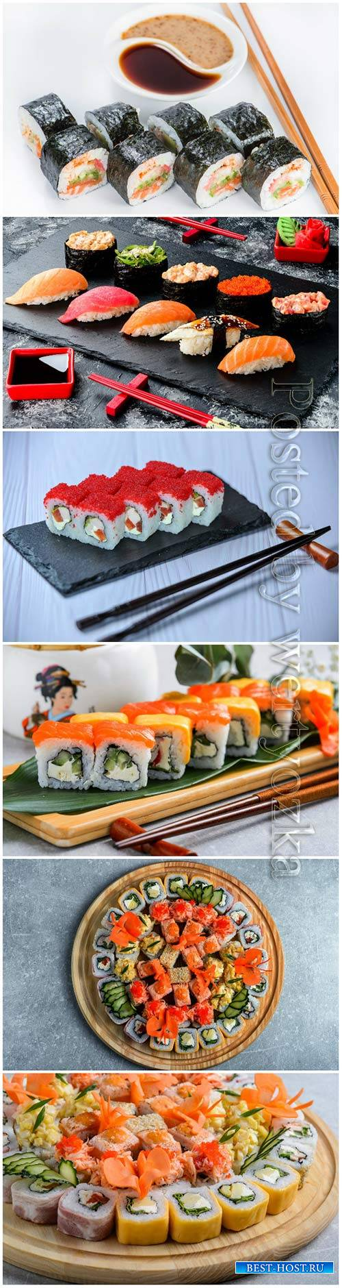 Sushi sets, delicious food