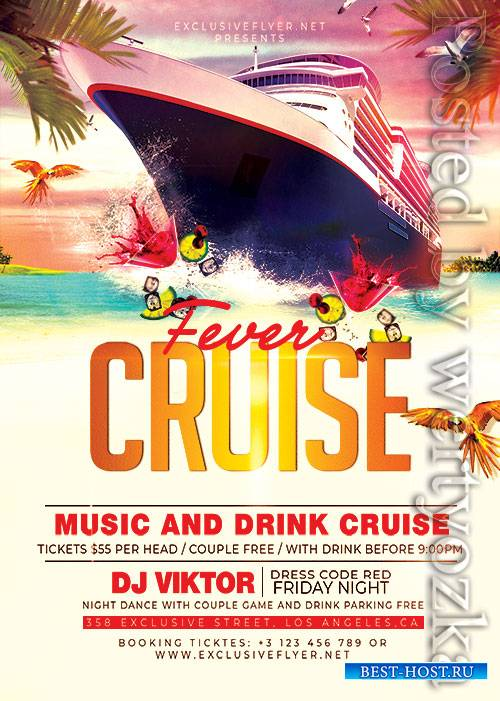 Cruise fever - Premium flyer psd template