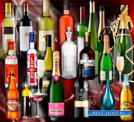 Клипарты без фона - Стеклянные бутылки