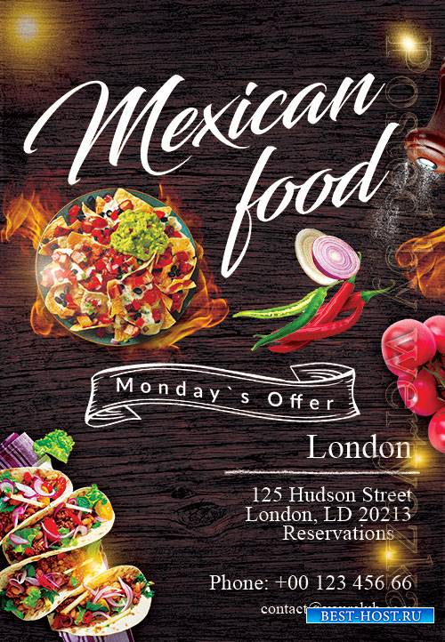Mexican Food - Premium flyer psd template