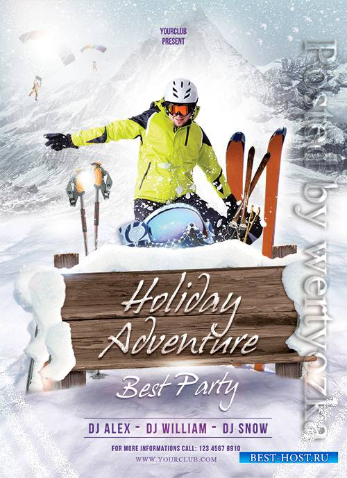 Holiday Adventure - Premium flyer psd template