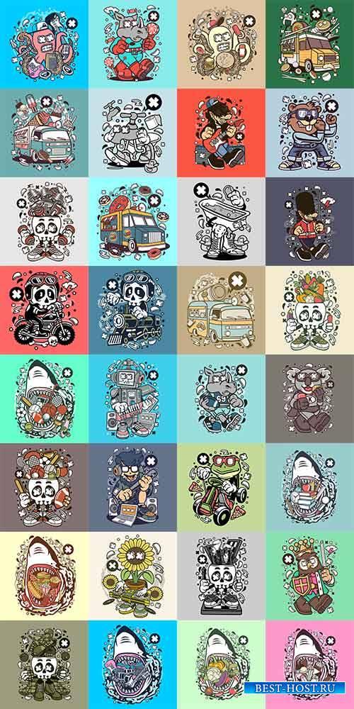 Игровые персонажи в векторе / Game characters in vector