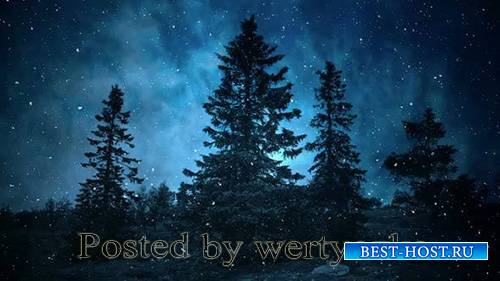 Videohive - Dark Blue Winter Night Backgrounds -  25300647