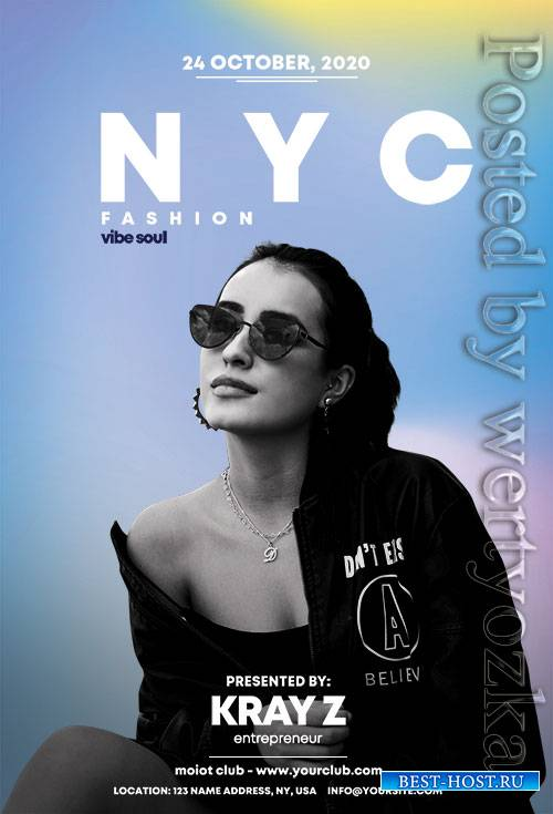 Nyc fashion - Premium flyer psd template