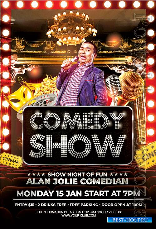 Comedy Show - Premium flyer psd template