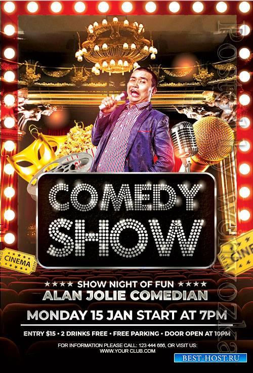 Comedy Show - Premium flyer psd template
