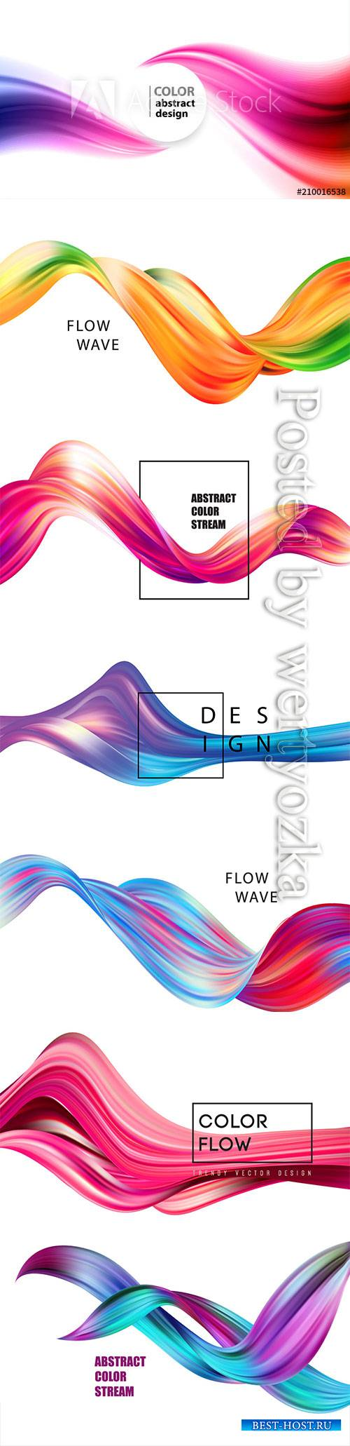 Abstract colorful vector background, color flow liquid wave for design