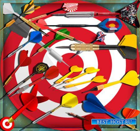 Клипарты для фотошопа - Игра в дартс