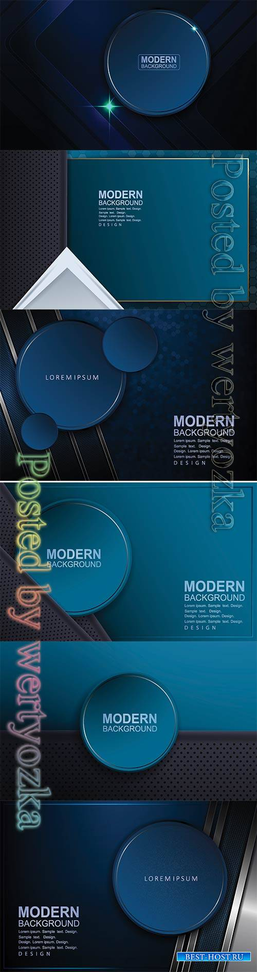 Abstract luxury vector backgrounds with different shapes # 3
